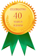 Celebrating 40 Years In Business